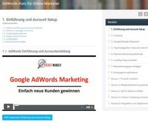 Google Adwords für Online Marketer